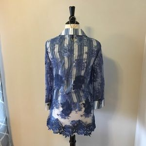 Save The Queen Tops - Save the Queen Lace Overlay Shirt